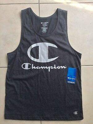 Champion Singlet T Shirt Mens Size Small Grey New Gym Workout Clothes