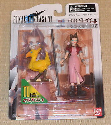 GENUINE Aerith Gainsborough w/ Chocobo Figure Final Fantasy VII 7 Extra Knights