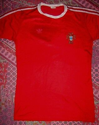 HOME RARE PORTUGAL Vintage Adidas WORLD CUP Football Shirt Jersey TRIKOT 1983 M
