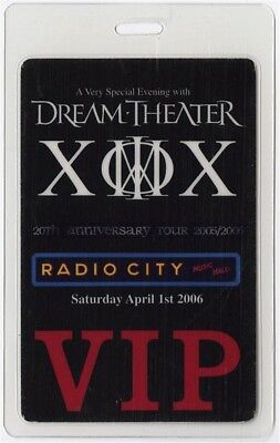 Dream Theater authentic 2006 concert tour Laminated Backstage Pass Radio City