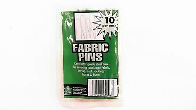 NEW Master Gardner Fabric Pins Contractor Grade Steel 10pk 701-SD