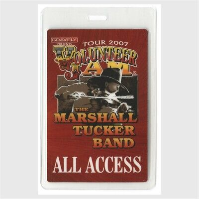 Charlie Daniels Band authentic 2007 Laminated Backstage Pass Marshall Tucker AA
