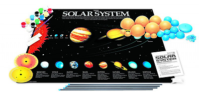 4M 3-Dimensional Glow-In-The-Dark Solar System Mobile Making Kit NEW SEALED
