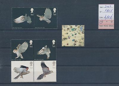 LH09367 Great Britain 2003 animals birds fine lot MNH face value 4,11£