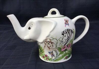 Collectable Elephant Teapot Jungle Fun By Wade Ceramics For Boots
