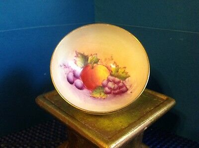 Vintage!paragon England Handpainted Porcelain Small Bowl ~Fruits Design Numbered