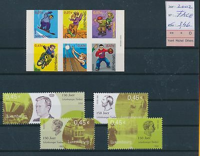 LH09466 Luxembourg 2002 nice lot of stamps MNH face value 3,46 EUR