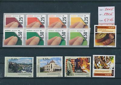 LH09485 Luxembourg 2005 nice lot of stamps MNH face value 5,7 EUR