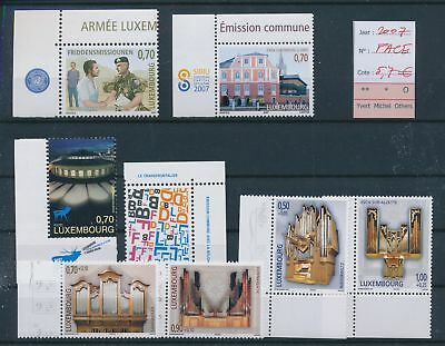 LH09498 Luxembourg 2007 nice lot of stamps MNH face value 5,7 EUR