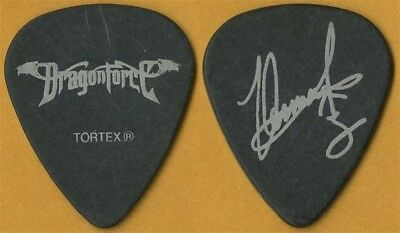 DragonForce Herman Li authentic 2007 tour issued signature stage Guitar Pick