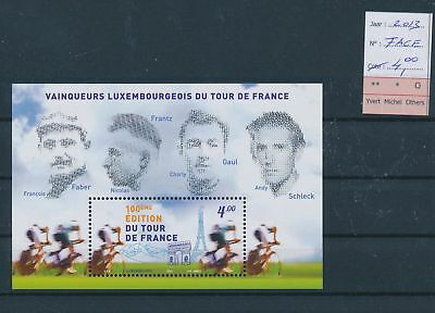 LH09516 Luxembourg 2013 tour de France cycling lot MNH face value 4 EUR