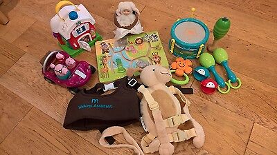 BABY/ TODDLER MUSICAL & EDUCATIONAL TOY BUNDLE+ walking assistant +back pack