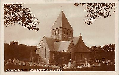 BR64243 alderney parish church of st  anne s real photo  uk