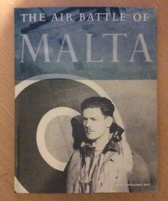 The Air Battle Of Malta Wwii Hmso Booklet Ww2 R.a.f. In Malta
