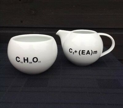 Quirky Science Periodic Elements Cream And Sugar Bowl Set.