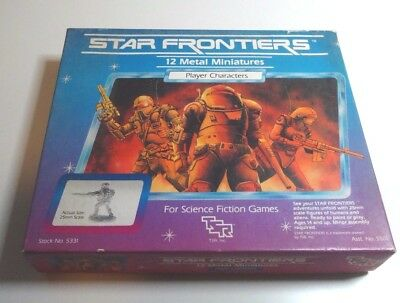 Star Frontiers RPG Miniatures - Player Characters Box - Complete - TSR - 1983