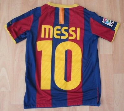 Barcelona 2010 Home Nike Football Soccer Polo Shirt Jersey 8-10 Years #10 Messi