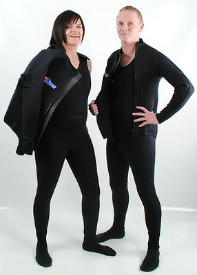 NEW Northern Diver All Black 4mm Neoprene 2Piece Diving and Snorkelling Wetsuit