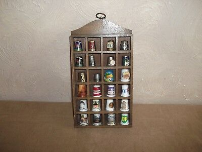Wooden Thimble Rack With 24 Thimbles