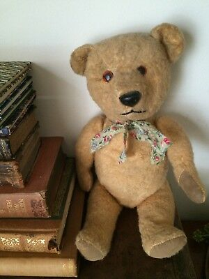 old/antique/vintage  teddy bear with working squeaker