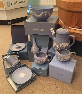 Wedgwood Jasper Ware Blue Collection joblot all new boxed