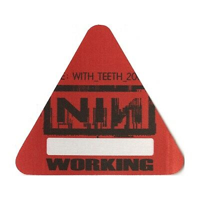 Nine Inch Nails authentic 2005 Live: With Teeth Tour Backstage Pass crew red