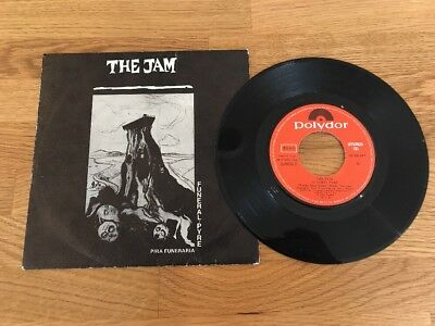 "The Jam # Spain Spanish 🇪🇸 Pressed 7"" Vinyl - Funeral Pyre - Paul Weller"