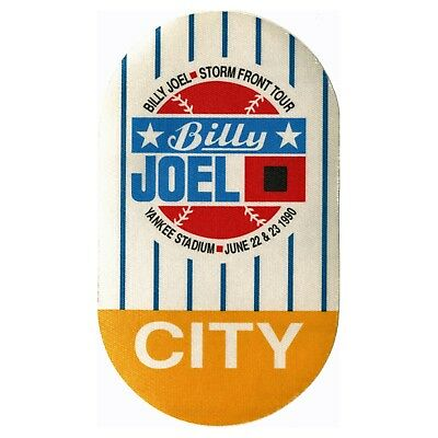 Billy Joel authentic City 1990 tour Backstage Pass