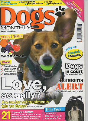 Dogs Monthly Magazine August 2009