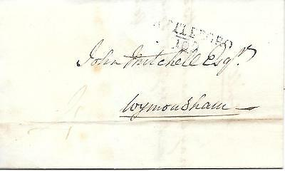 Pre-Stamp Cover with Letter. Attleborough to Wymondham 24/04/1817.