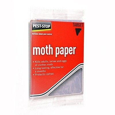 10 Moth Killer Paper Cloth Deterrent Repellent Wardrobe Drawer Hanger Genuien.