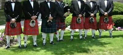 Mens Royal Stewart and Black Watch Kilts  Free ship to Lower 48 US and Canada