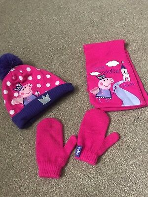 Peppa Pig Hat Gloves And Scarf Set Age 4-6