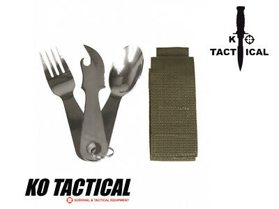 Outdoor Eating Utensils With Pouch Camping Survival Hiking Hunting Fishing