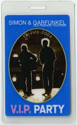 Simon & Garfunkel authentic 2004 Laminated Backstage Pass Old Friends Tour VIP
