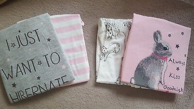 2 Sets of Girls Bunny Rabbit PJ's - New & Sealed - 12 to 18 months