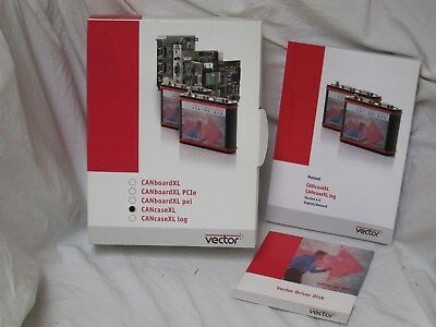 Vector CANcaseXL Box, Manual, Drivers CD, RS232 Crossover Cable. NO HARDWARE.