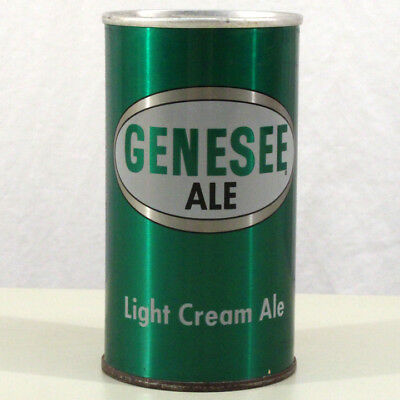 Genesee Light Cream Ale Bottom Opened Pull Tab Beer Can Rochester, New York Ny++