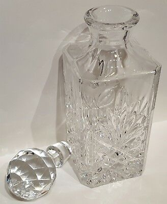 Stuart Crystal Square Cut Glass Whisky & Spirit Decanter - In Superb Condition