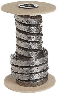 Palmetto 5000 Series Flexible Graphite Compression Packing Seal, Shiny Gray, 5
