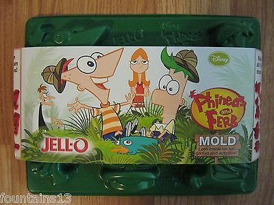 DISNEY Phineas and Ferb JELLO MOLD Makes 6 Fun Shapes! KRAFT 2012 Kids Cooking