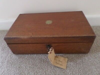 Antique Large Writing Slope With Key. (I Think Its Made Of Mahogany Or Oak)