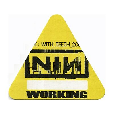 Nine Inch Nails authentic 2005 Live: With Teeth Tour Backstage Pass crew yellow