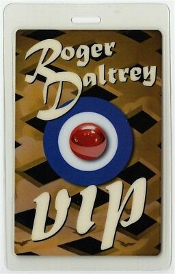 Roger Daltrey authentic 2008 concert tour Laminated Backstage Pass VIP The Who