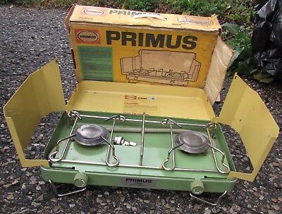 Vintage PRIMUS Sweden model 2396 Camping Stove in Box Very Nice Condition