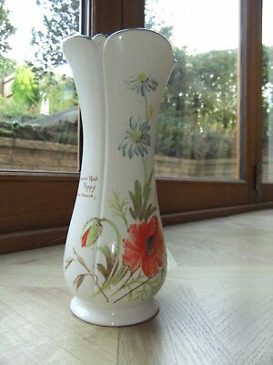 Vintage Country Diary Collection - Royal Winton - England Poppy Vase 1977