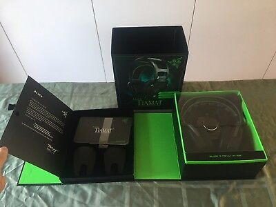 Razer Tiamat 7.1 Black Headband Headsets for PC Lightly Used Complete in box
