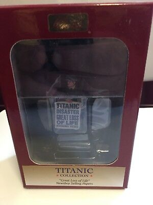 "Titanic Collection (Britain Diecast) Newsboy ""great Loss Of Life'"