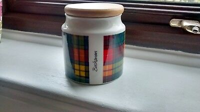 Kitchen Storage Dunoon Bucchanan Tartan Wooden Lid  Excellent Condition