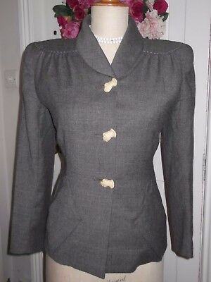 Vintage Original 1940's Tailored Jacket, With Fabulous Gauntlet Buttons!